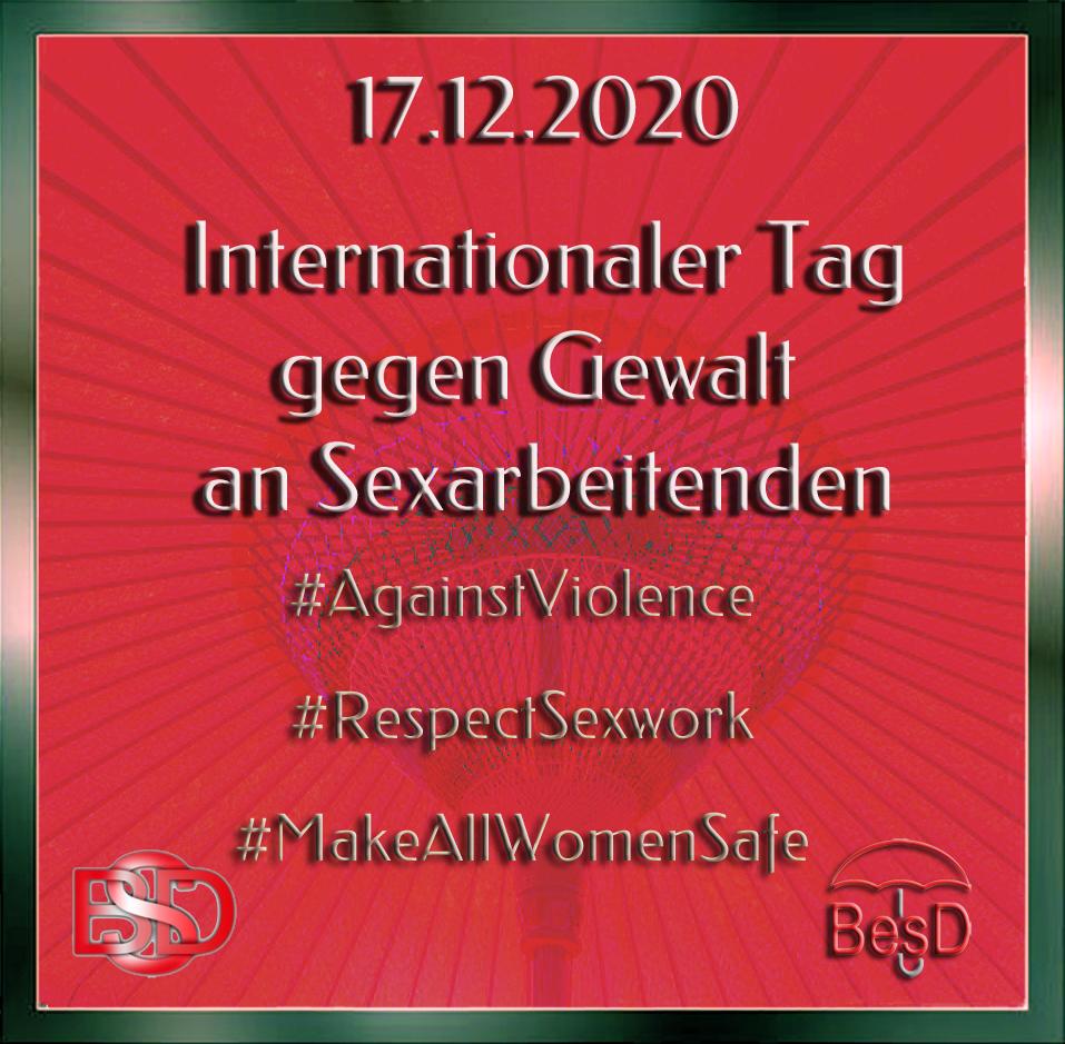 Internationaler Tag gegen Gewalt an Sexarbeitenden